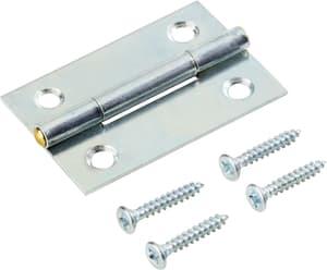 Scharnier mit Schraube verzinkt 40 x 26 mm