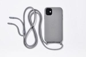 Etuui Chaîne de téléphone portable iPhone 12 / 12 Pro Nature Mountain Grey