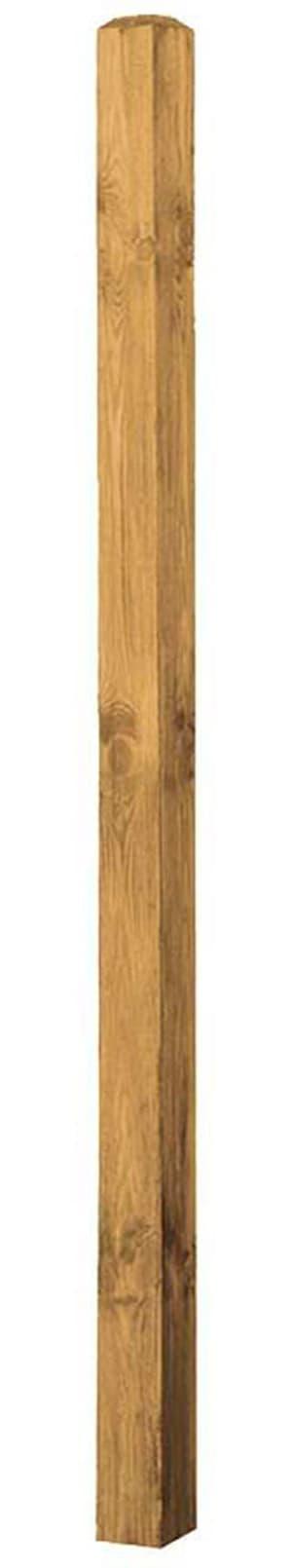 Poteaux en bois de pin pour pare-vue en noisetier