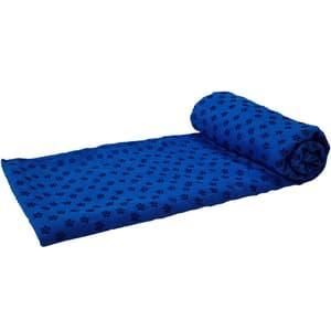 Yoga Tuch Rutschfest mit Tasche blau