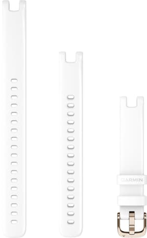 Lily bracelet 14mm silicone blanc avec des parties en ivoire