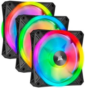 iCUE QL120 RGB PRO 3er Pack mit Lightning Node