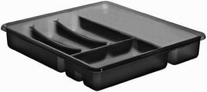 BASIC Besteckkasten mit 6 Fächern, Kunststoff (PP) BPA-frei, anthrazit
