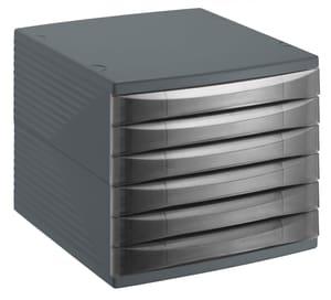 Cassettiera da ufficio 6 cassetti chiusi