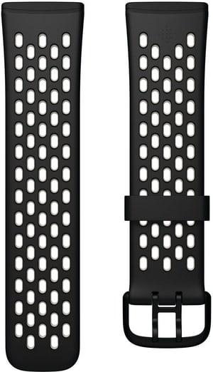 Versa 3/Sense Bracelet de sport Black/White Small