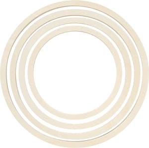 Set di anelli di legno 4 pezzi, 1 cm x 16/19/22/25 cm