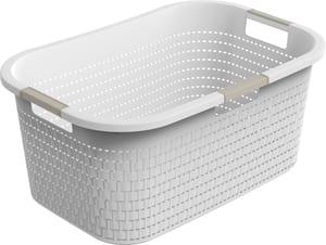 COUNTRY Wäschekorb 40l, Kunststoff (PP) BPA-frei, weiss