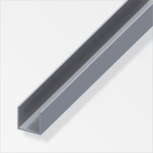 U-Profilo quadrato 15.5 mm naturale 1 m