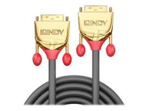 DVI-D Dual Link Kabel, Gold Line 20m