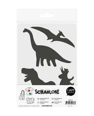 Schablone Kids DIN A5, Dinosaurier