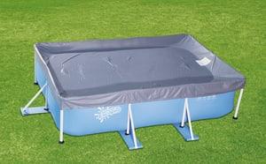 Telo di copertura p. piscina tubolare rettang.