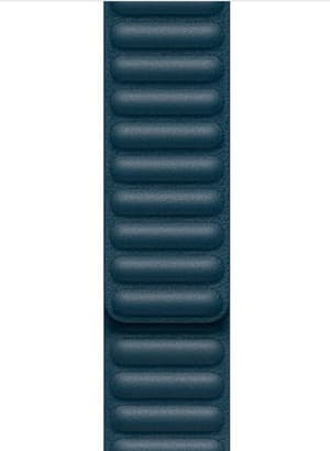 44mm Baltic Blue Leather Link - Small