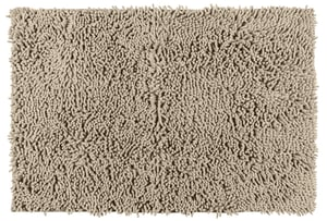 Tappeto da bagno Ciniglia sabbia, 100% poliestere