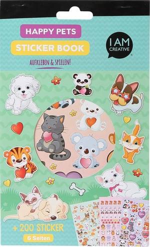 Stickerbook, Pets, 6 Blatt
