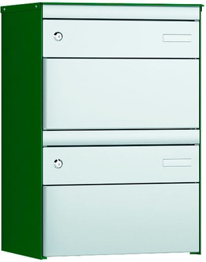 2x Boites aux lettresS:13 RAL 6005/9006
