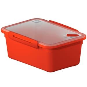 MEMORY Mikrowellendose 2l mit Deckel und Ventil, Kunststoff (PP) BPA-frei, rot