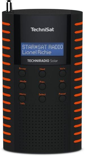 Techniradio Solar - Schwarz/Orange