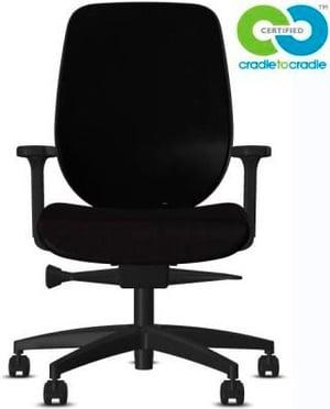 Chaise bureau 353-4029 C2C 353-4029 C2C noir, avec accoudoir