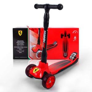 Scooter Ferrari avec roues LED rouges