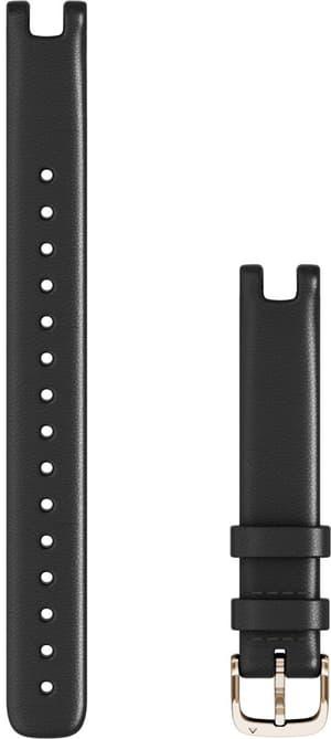 Lily Armband 14mm Italienisches Leder Schwarz mit Teilen in Elfenbein