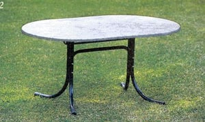 TABLE WERZALIT OVALE BLEU
