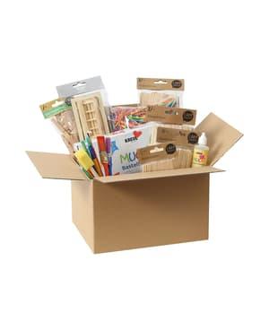 Creativa scatola di legno, 4-14 anni