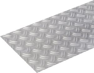 Lamiera striata 1.5 x 250 mm naturale 0.5 m