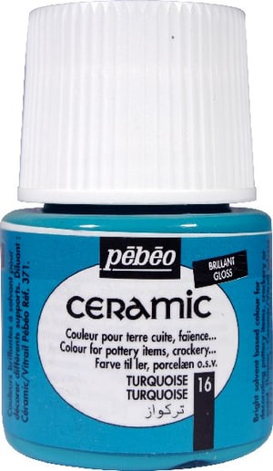 PÉBÉO Ceramic Keramikmalfarbe 16 Turquoise 45ml