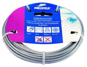 Câble d'acier galvanisé avec gaine en plastique