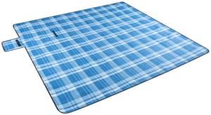 Campingdecke blau kariert 200 x 200 cm