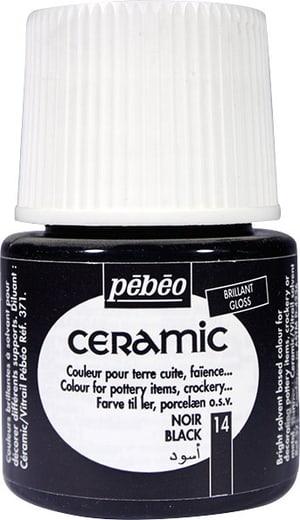 PÉBÉO Ceramic Keramikmalfarbe 14 Black 45ml