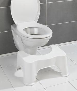 Tabouret de toilet Secura blanc