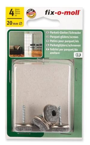 Parkettgleiter mit Schraube 5 mm / Ø 20 mm 4 x