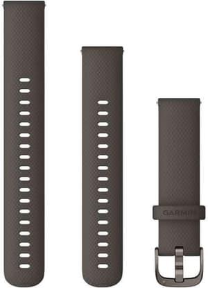 18mm Bracelet à changement rapide gris foncé avec boucle gray