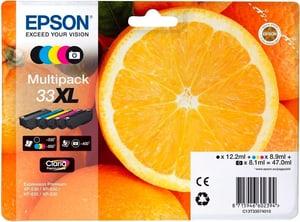 33XL Claria Premium Multipack CMYBK/PhBK