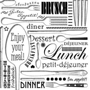 Atelier Serviettes, 20 pcs. 33x33 cm, Enjoy your Meal