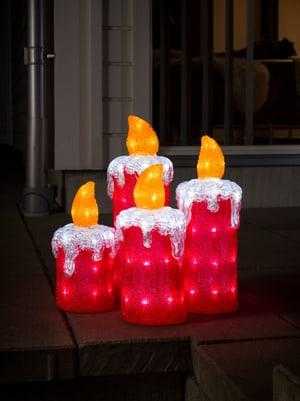 LED Acryl Adventskerzen, 4er Set