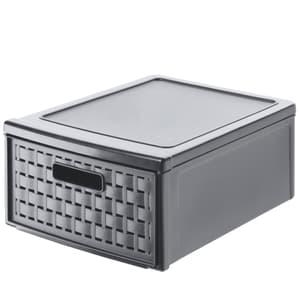 COUNTRY Cassettiera 8,3l con 1 cassetto in rattan, Plastica (PP) senza BPA, antracite