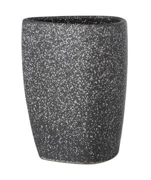 Keramik Zahnputzbecher Pion grau