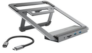 Docking station USB-C con supporto per notebook, 12 porte