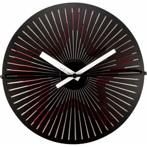 Horloge murale Kinegram Star rouge / blanc