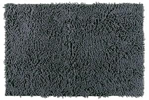 Tappeto da bagno Ciniglia grigio scuro, 100% poliestere