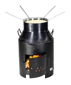 Stufa per griglia e fonduta di formaggio