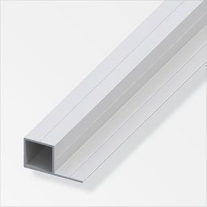 Tube carré/coté 23.5 mm alu argent film