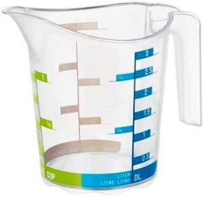 DOMINO Kleiner Messbecher 0.3l mit Skala, Kunststoff (PP) BPA-frei, transparent
