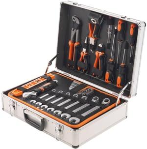 Mallette d'outils en aluminium Classic composée de 145 pièces