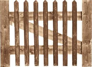 Cancello per steccato a palizzata