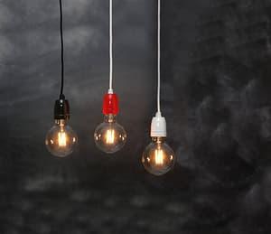 Câble de lampe avec douille noir