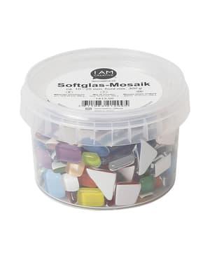 Softglas-Mosaik Bunt Mix, 10-25 mm