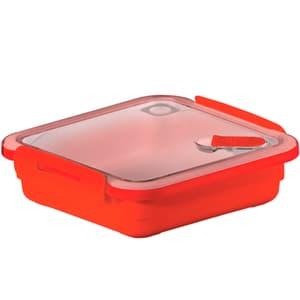 MEMORY Mikrowellendose 0.56l mit Deckel und Ventil, Kunststoff (PP) BPA-frei, rot
